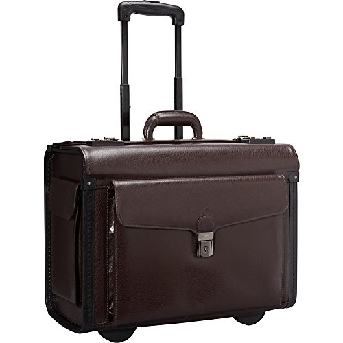 Deluxe Leather Laptop Catalog Case Color: Burgundy