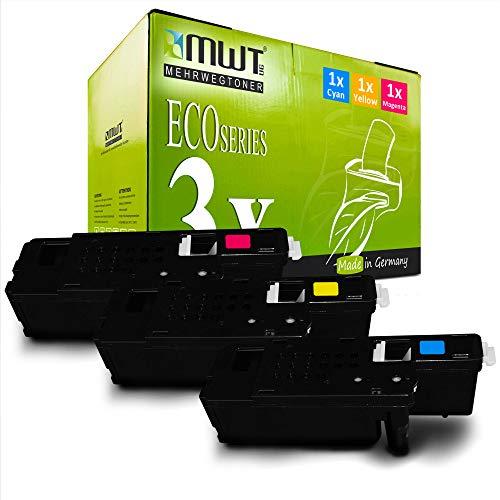 3X MWT Druckerpatronen für Xerox Workcentre 6025 6027 ersetzt 106R02756-106R02758 Color