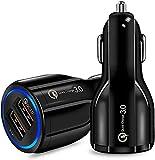 ULTRICS Chargeur de Voiture USB, Universel 2 Ports QC 3.0 Car Charger Rapide Chargeur, Allume Cigare...