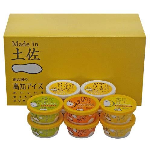 高知アイス Made in 土佐のアイスクリンと柑橘シャーベット 詰め合わせ 10個セット ( アイスクリン×4個・ゆずシャーベット×2個・文旦シャーベット×2個・ぽんかんシャーベット×2個)
