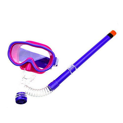 SAFLYSE Kinder Schwimmbrille Schnorchel + Taucherbrille Set Kinder-Tauchset (lila)