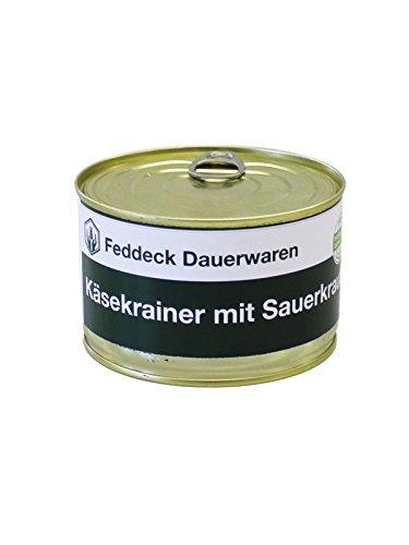 Fertiggericht Dose Käsekrainer mit Sauerkraut 400 g