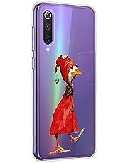 Oihxse Funda para Xiaomi Mi 9 SE Transparente, Estuche con Xiaomi Mi 9 SE Ultra-Delgado Silicona TPU Suave Protectora Carcasa Océano Animal Serie Bumper (C6)