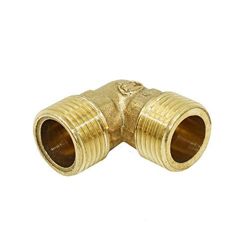 Conexión de tubería de agua 10pcs Latón Codo de conexión 1/2' adaptador de codo de 90 grados de la manguera de reparación 3/4' rodilla de cobre metálico roscado del tubo de agua Conector para jardín