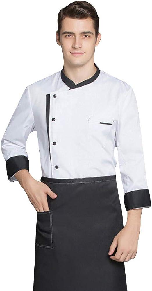 Nanxson Unisex Chef Jacket Hotel/Kitchen Uniform Long Sleeved Chef Vest Coat CFM0016
