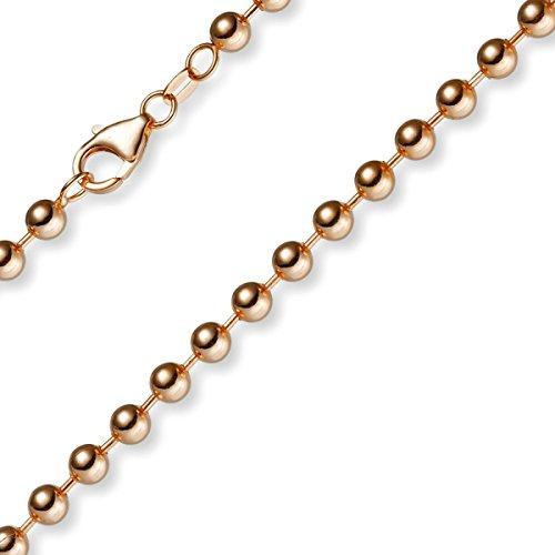 5 mm catena in oro Collana con sfere bicolor 19018098, 90 cm