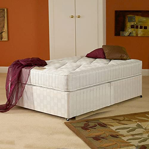 Deluxe Beds Ltd 6Ft Super Kingsize Oxford Orthopaedic Zip & Link Divan No Drawers