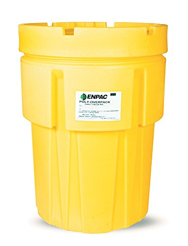 Enpac 1065-YE Poly-Overpack Salvage Drum, 65 Gallons Spill Capacity, 27-3/4