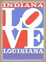 ポスター ロバート インディアナ Love louisiana 額装品 ウッドベーシックフレーム(オフホワイト)