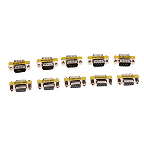 Conector del Género del Acoplador del Adaptador Serial De 5Pair RS232 DB9, Varón/Hembra