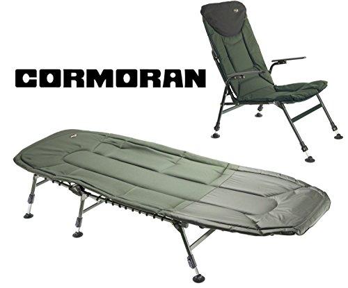 Cormoran Angelliege + Angelstuhl Campingset 6-Bein Liege + Stuhl