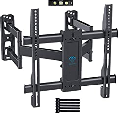"""🤗 UNIVERSAL TV COMPATIBILITY - Our corner TV bracket fits most 26-55"""" TVs weighing up to 99lbs/45kgs. Suitable for VESA sizes (mounting hole pattern) - 200x100/200x200/300×200/300×300/400×200/400×300/400×400 🤗 SEPERATED WALL PLATE DESIGN - Our corner..."""