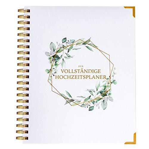 Agenda de boda en alemán, organizador de libro y boda, calendario con diseño de flores, planificador de boda