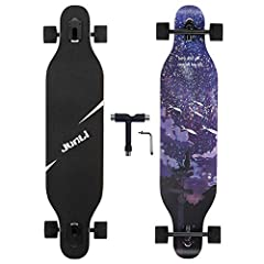 TRUCKS: Highly responsive 7-inch aluminum alloy trucks and ultra high elastic PU support pad,providing control and stability. DECK: 41 IN long x 9.5 IN wide deck made of cold press 8-ply natural maple with max load weight 330Ibs; brushed black surfac...