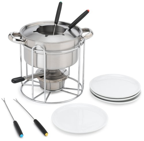 Casa Moda 12-Piece Stainless-Steel Buffet Fondue Maker