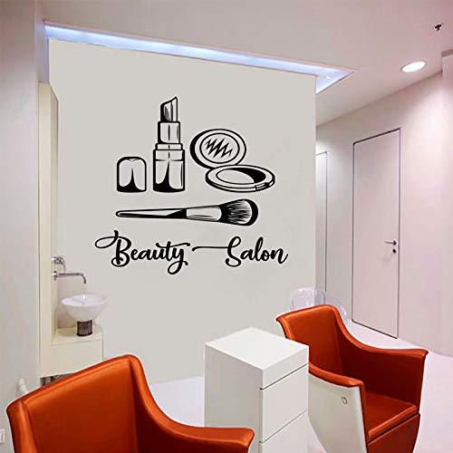Visagist logo muur sticker make-up ontwerp schoonheidssalon mode stijl afbeelding cosmetische schoonheid vinyl sticker 69x63cm