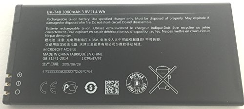 Microsoft Itstek BV-T4B - Batteria di Ricambio Originale per Smartphone Lumia 640 XL, 3000 mAh, 3,8 V, Non Compatibile con la Versione Standard (più Piccola) Lumia 640