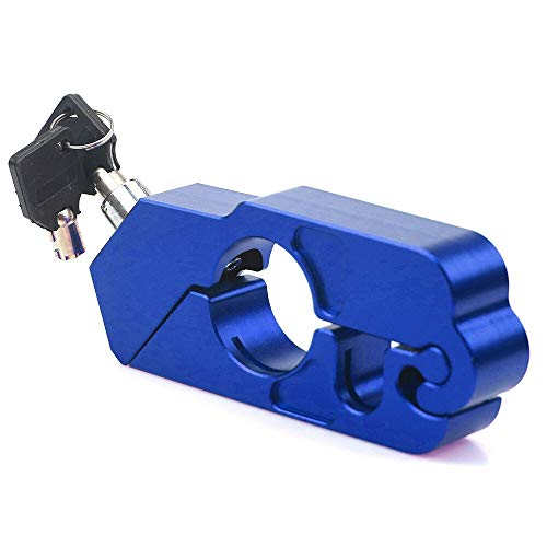 RONGLINGXING Powersports Onderdelen For BMW Ducati Aprilla Vespa Scooter Universal CNC Handle Grip Lock Elektrische Scooter Brake Clutch Lever Lock Anti Theft Motor (Color : Blue)
