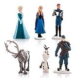 Set 6 Mini Figurines 4cm Frozen Anna Elsa Olaf Sven Kristoff Hans Originaux Disney Aussi pour gâteau Cake Toppers
