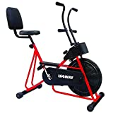 LEEWAY Exercise Cycle with Back Support Fix Handle Gym Bike for Weight Loss and Home Use| Cardio...