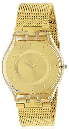 Swatch Generosity Reloj de malla para mujer con esfera dorada SFK355M