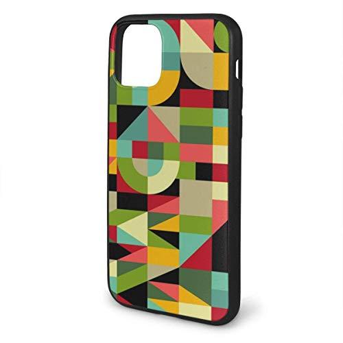 Bauhaus Style Inspired Mosaic Design Transparente Kunststoff-Rückentasche mit TPU Pro max