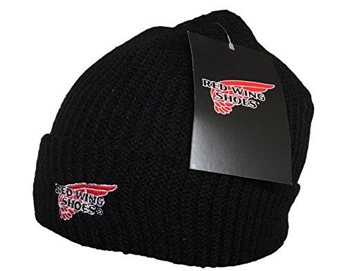 redwing Schuhe, winddicht, mit Fleece gefüttert, Beanie-Mütze, ideal für Snowboard und Ski, Schwarz