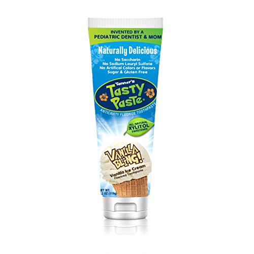 Tanner's Tasty Paste Vanilla Bling - Anticavity Fluoride Children's Toothpaste/Great Tasting, Safe, and Effective Vanilla Flavored Toothpaste for Kids (4.2 oz.)