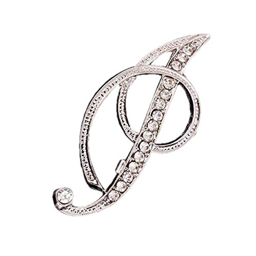 Accessory, 1PC Crystal 26 English Letters Brooch Pin Couple Memorial Jewelry Love Gifts, Clothing Shoes & Accessories (I Free Size)