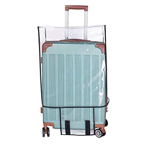 Funda Maleta Transparente Funda Protectora para Maleta de Viaje en PVC Funda para Maleta 28 Pulgadas Tapa del Maletero a Prueba de Fugas a Prueba de Polvo Lavable a Prueba de rayones y Reutilizable