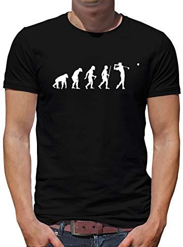 TShirt-People Evolution Golf - Camiseta para hombre, diseño de evolución del golf Negro  L
