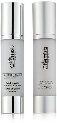 skinChemists Crème Hydratante Wild Caviar Hand Platinum Collection et Bee Venom Duo