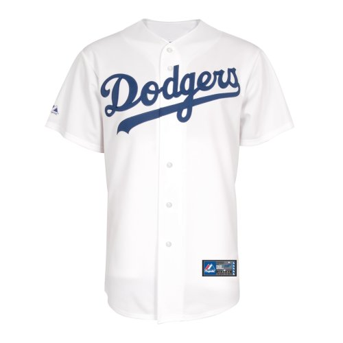 Majestic MLB L.A. Dodgers White Replica Baseball Jersey (XXX-Large)