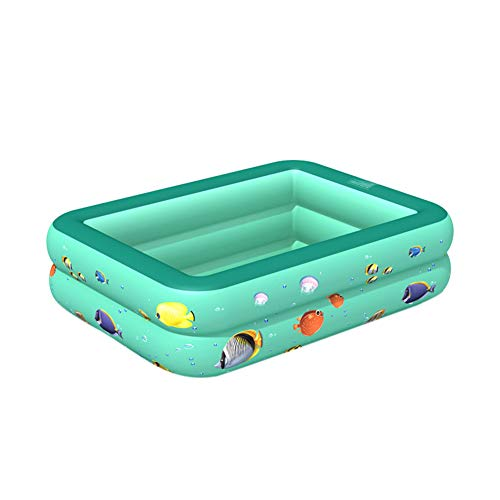 Vwlvrsco Durable 2/3 Layers Fish Pattern Inflatable Baby Children Swim Bathtub Swimming Pool Toy for Summer Green 120cm 2 Layers