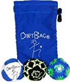DirtBag All Star Footbag Hacky Sack 3 Pack - Blue/White