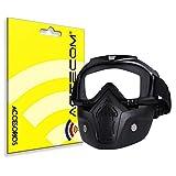 actecom Gafas + Mascara extraíbles, para Moto Motocicleta Quart Deporte Aire Libre Lentes antivaho, Filtro en la Boca, Correa Antideslizante Ajustable máscara