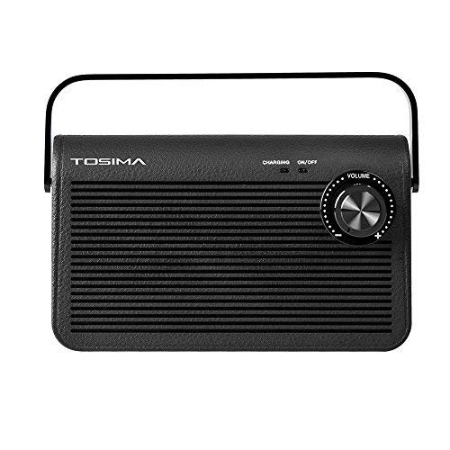 Tosima Wireless TV Speakers for Hearing Impaired, Senior Hearing Assistance Speaker for TV, Soundbox for Hard of Hearing and Elderly (TV Need 3.5mm Jack or Audio Out Plug) Black
