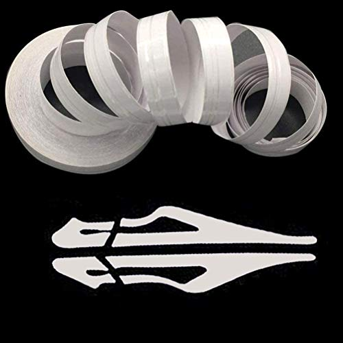 ZATOOTO White Pinstripe Tape for Car - DIY Vinyl Pin Striping Decals Auto Waterproof Pin Stripe Tape Emblems Trim Universal for Automobile Musical Instrument Home Door etc