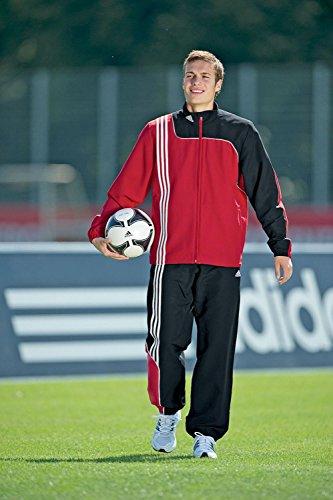 adidas Herren Trainingsanzug Sereno 11 Presentation, Top:University Red/Black Bottom :Black/University Red, 5, V38077