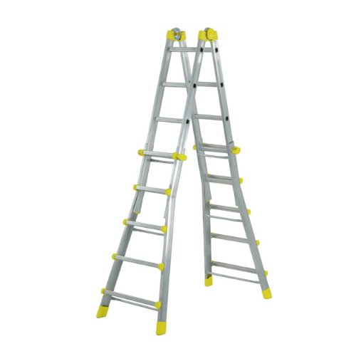 MAURER multifunctionele ladder aluminium 5 + 5 treden 4,81 m
