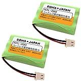 【2個セット】SANYO 三洋電機 NTL-200 TEL-BT200 コードレスホン 子機 充電池 互換 バッテリー 【実容量高/通話時間UP】ロワジャパン