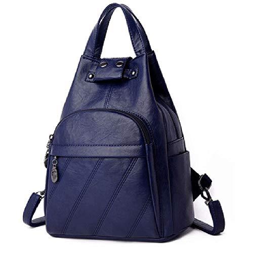 No-logo Ladies Backpack Multi-pocket Waterproof Anti-theft Backpack Large Capacity Travel Backpack Ladies Work School Travel Leisure (Color : B)