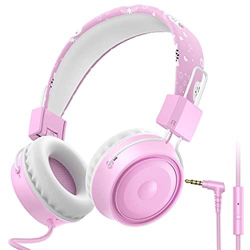 BlueFire Auriculares con Cable para Niños, Auriculares Infantil con Micrófono y Auditiva...