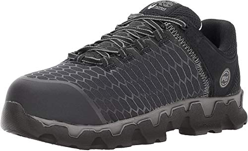 Timberland PRO Men's Powertrain Sport Alloy Toe EH Industrial & Construction Shoe, Black Synthetic, 9 M US