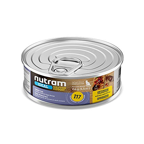 Nutram Cat Indoors Cans Chicken and Whoe Egg 24x156gm