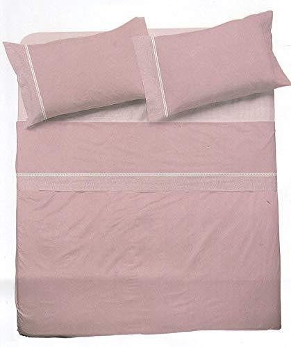 NOVIA - Juego de sábanas de matrimonio completo de algodón, juego de sábanas de matrimonio Venere   Juego de sábanas de dos plazas   Juego de sábanas para cama de matrimonio (Crono Cipria – V905)