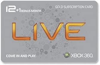 Xbox 360 Live 12 Month Gold Card plus 1 Month Bonus