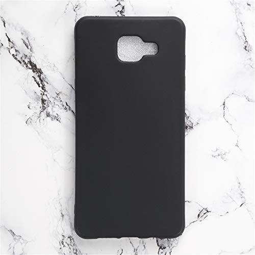 Capa para Samsung Galaxy A5 2016, resistente a arranhões, capa traseira de TPU macia à prova de choque, borracha de gel de silicone, anti-impressões digitais, capa protetora de corpo inteiro para Samsung Galaxy A5 2016 (preta)