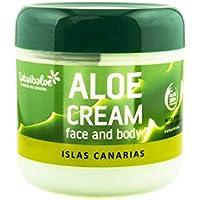 Tabaiba Aloe Vera Crema, Crema Hidratante Facial y Corporal con Aloe Vera, 300 ml