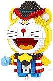 Anime Doraemon Cat Robot 3D Modelo DIY Mini Diamond Blocks Blishs Building Juguete para Niños Regalo (1110Pcs)